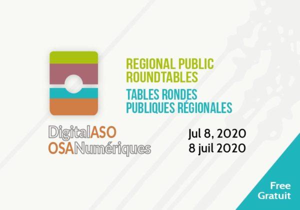 DigitalASO Roundtables / Tables rondes OSANumériques